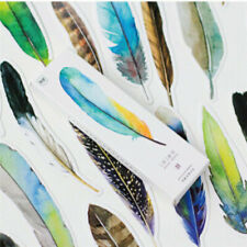 30pcs Colorful Bookmark Feather Bookmark Cartoon Pack Cute Gift Animals