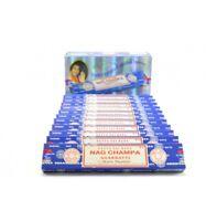 Bâtonnets encens Nag Champa Satya 15 g 1 boîte ou lot de 2/3/4/5/6 boîtes