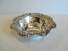 Stunning Vintage Gorham Sterling Silver Chased Decorated Candy Dish / Bowl