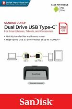 Sandisk Ultra 256GB DD Dual Drive USB 3.1 Type C Fast Flash Drive Stick 150MB/s