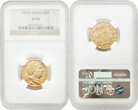 France 1818-A 20 Francs Gold NGC XF45 SKU#4151