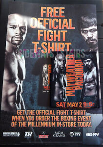"MAYWEATHER VS PACQUIAO PROMO T-SHIRT 24""X36"" POSTER official boxing fight tee xl"