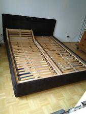 Polsterbett 160x200cm, mit Lattenrost und Bettkasten ohne Matratze