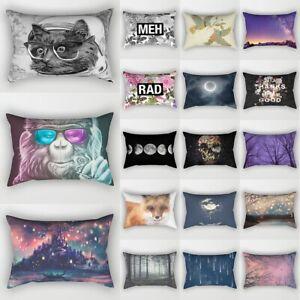 Geometric Abstract Throw Cushion Cover Rectangle Pillow Case Home Sofa Decor