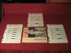 1959 Pontiac  Sales Brochure Original Old Booklet Book Catalog