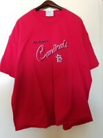 Vtg LEE Sport St. Louis Cardinals Embroidered MLB Men's XXL  T-shirt  Red