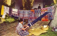 A WEAVER AT POSADA BELEN - ANTIGUA GUATEMALA