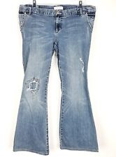 Liz Lange Maternity For Target Womens Jeans Size 10 Distressed Pocket Flaps