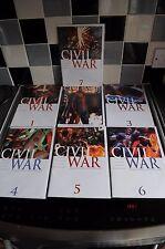 MARVEL CIVIL WAR ORIGINAL COMICS PARTS 1-7 WITH VARIANT COVER #2