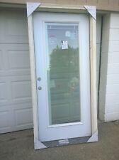 """NEW: 36""""x79"""" STEEL Exterior DOOR w/ Full-View Glass + BUILT-IN Retractable BLIND"""