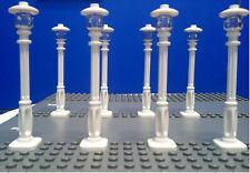 LEGO 8 LAMPIONI BIANCHI (TIPO CAFE' CORNER 10182)