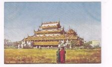 """BURMA antique Tuck db post card """"The Golden Kyoung"""" in Mandalay"""