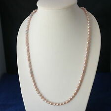 "Beautiful Bronze Pearls Necklace27"" Inches Long With Silver Clasps In Displ Box"