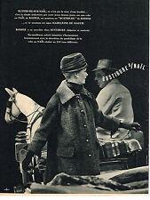 PUBLICITE ADVERTISING 024   1956   RODIER  RUSTIBURE manteau MADELEINE DE RAUCH