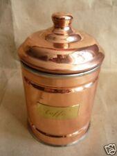 Porta CAFFE' da cucina in rame acciaio inox 1 kg.