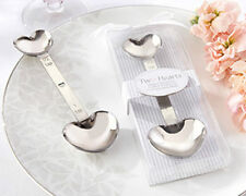 Two Hearts Stainless Steel Measuring Spoon Wedding Bridal Shower Favors