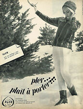 PUBLICITE ADVERTISING 014   1963  PLER  vetements de ski  anorak fuseau