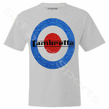 Lambretta Tee T-Shirt  Mens Clothing Mod Scooter Crest Polo Racing Target New
