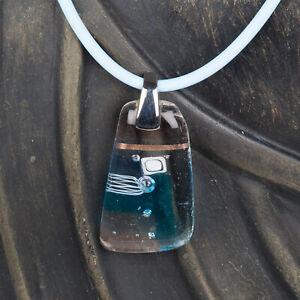 Glasschmuck Anhänger Schmuck Unikat blau Glasstein G015 echtes Muranoglas Sale