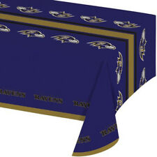 NFL BALTIMORE RAVENS PLASTIC TABLE COVER ~ Birthday Party Supplies Purple Cloth