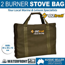 New OZtrail 2 Burner Stove Carry Bag Brown Canvas Outdoor Camping Hiking Storage
