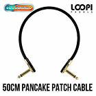 50cm Pancake Right Angled Effect Patch Cable - Van Damme Ultra Flexible Cable