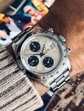 Tudor Tiger Full Set Rolex Daytona Panda Dial Mens 40mm steel Paul Newman watch