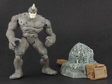 "Marvel Spider-Man Web Trap RAMPAGING RHINO Complete 5"" Action Figure ToyBiz 1997"