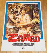 ZAMBO Affiche cinéma 120x160 ALBERTINI, BRAD HARRIS, GISELA HAHN, DANIELE VARGAS