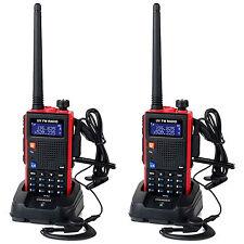 2Pcs Retevis Walkie Talkie UHF+VHF 128CH Scan VOX FM Two-Way Radio 1750Hz tone