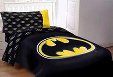 DC Comics Batman Kids Comforter Bed Set 4pcs Twin Size