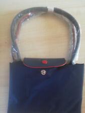 New Le Longchamp Pliage Nylon Tote Handbag Blue Large Authentic France;