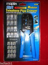 Professional 2in1 MODULAR PLUG CRIMPER PER RJ-45 & RJ12 *** nuovo con scatola RRP £ 24.99 ***