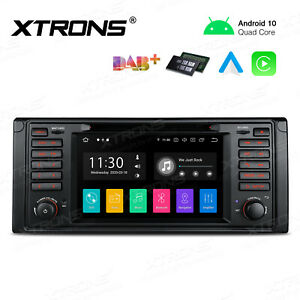 """7"""" Android 10.0 GPS Car Radio Stereo DVD Head Unit OBD For BMW 5 Series E39 M5"""
