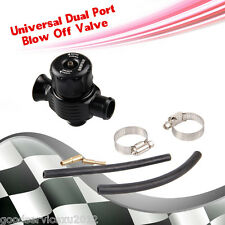 Black 25mm Diameter Dual Port Car SUV Blow Off Turbo Bov Valve Dump Diverter Kit