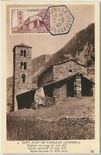 56889 - FRENCH ANDORRA - POSTAL HISTORY: MAXIMUM CARD 1947 - Architecture