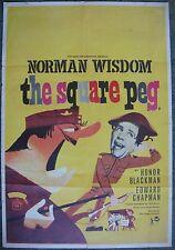 English Text Lebanese 1 sheet SQUARE PEG Theatrical Movie Poster 66x96cm 1958