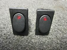 (2) MCGILL ON / OFF BOAT ILLUMINATED 14 VAC  BOAT ROCKER SWITCH FREE SHIPPING