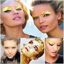 20 PCS of GOLD LEAF MAKE UP FACE PAINT BODY PAINTING STAGE FANCY DRESS PARTY
