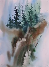 """ARROYO"" original watercolor by American artist Micheal Jones"