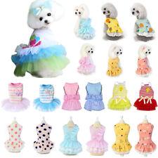 Dog Cat Skirt Pet Dress Gauze Skirt Pet Clothes Three Layers of Yarn Vest Summer