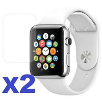 2-PACK Tempered Glass Clear Screen Protector For Apple Watch ( Series 3 ) 38mm