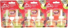 3 Glade PlugIns 1.34 Oz Berry Pop 50% Longer Last Frag 2 Ct Scented Oil Refill