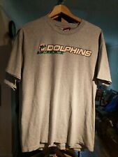 Vintage Miami Dolphins NFL T Shirt 90/10 Cotton Gray Large