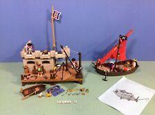 (O3112.9) playmobil lot pirates fortin ref 3112 + bateau ref 4444