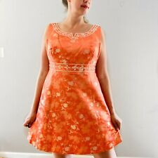Vintage Women's Party Dress Cocktail Asian Inspired Beaded Handmade Plus Size 16