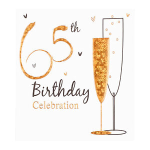 65th Birthday party invitation cards, Inc. envelopes. 6 Pack Simon Elvin Qlty