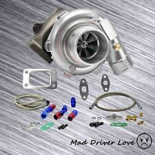 T3/T4 TO4E TURBO CHARGER .57 A/R +OIL FEED 8PSI +RETURN FOR MIATA INTEGRA MAZDA3