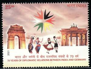 India 2021 Germany Joint Issue 70 years Diplomatic Relations Architecture Dance