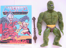 1985 MATTEL MOTU HE-MAN MASTERS OF THE UNIVERSE SERIES 4 MOSS MAN FIGURE & COMIC